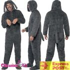 Mens Fluffy Dog Costume Jumpsuit Onesi Animal Party Funny Puppy Fancy Dress