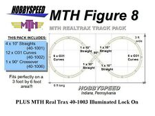 MTH 031 FIGURE 8 TRACK PACK & ILLUMINATED LOCK ON 3' x 6' O Gauge Train Layout
