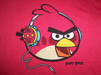 Angry Birds Video Game Headphones Music Hip Hop Red 60/40 Graphic T Shirt - Xxl