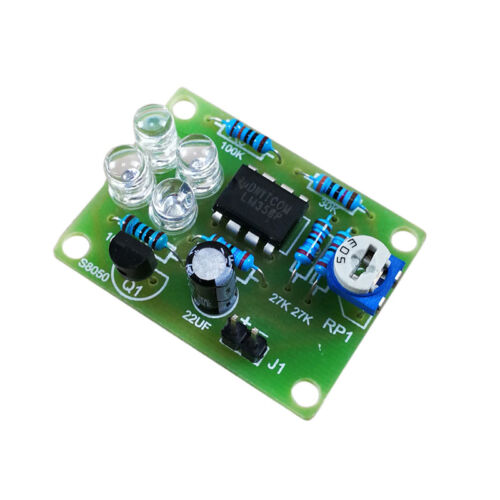 Lm358 Electronic Breath Light Training Led Kit Soldering Practice Production RU