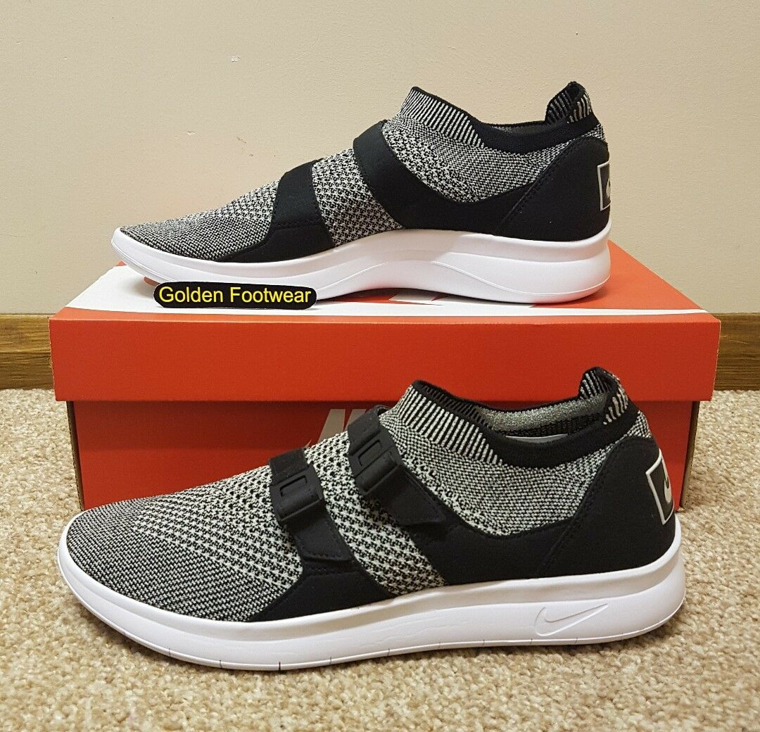 Nike Air Sockracer Flyknit Größe 11 UK Pale Grau Authentic Genuine Authentic Grau  Herren Trainers 52e87a