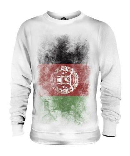 AFGHANISTAN FADED FLAG UNISEX SWEATER TOP AFGHANESTAN FOOTBALL AFGHAN SHIRT