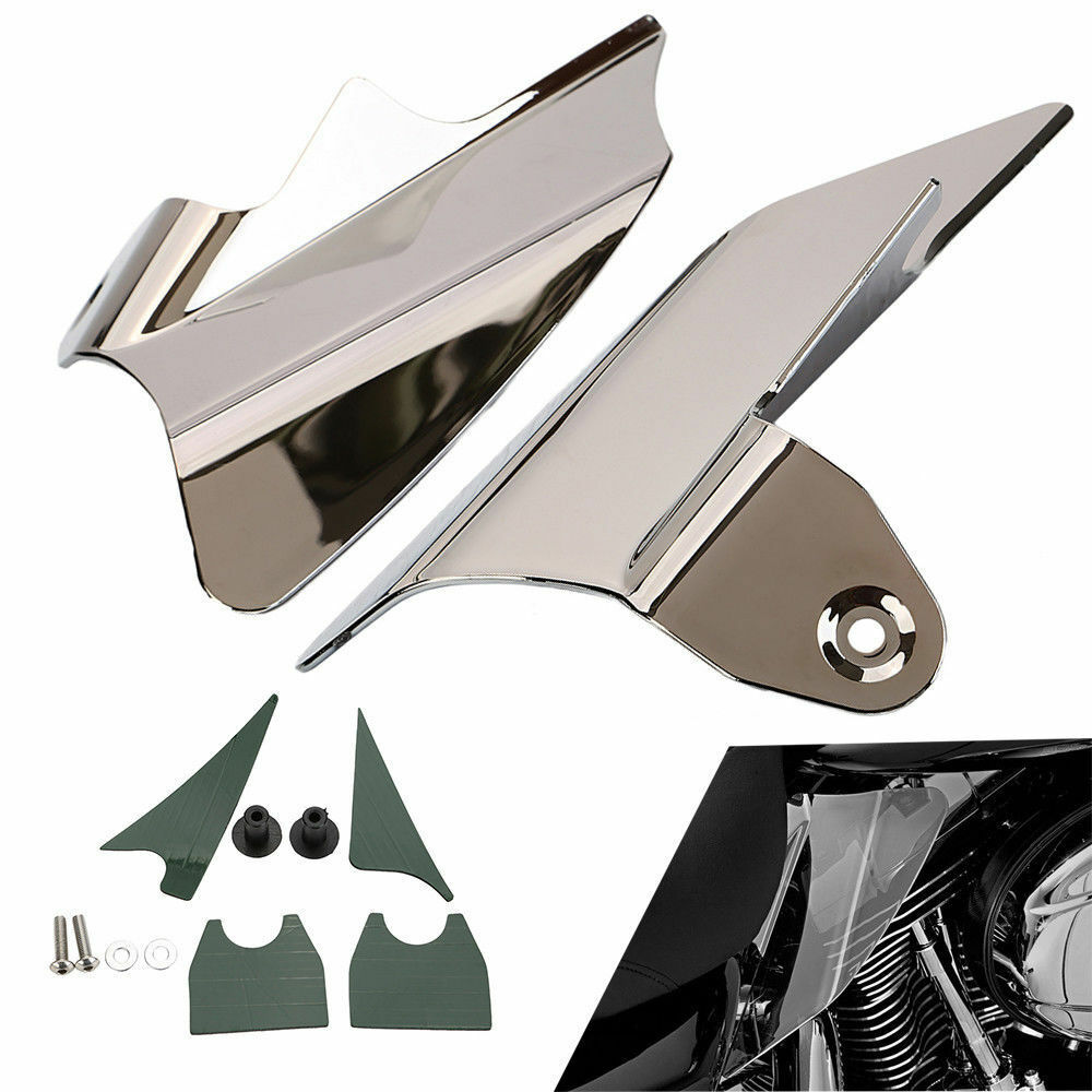 Details about USA Reflective Motor Saddle Shield Air Heat Deflector For  Harley Street Glides