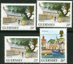 GUERNESEY-N-518-9-NEUFS-Varietes-034-DIVERS-DENTELES-SUR-2-ou-3-COTES-034