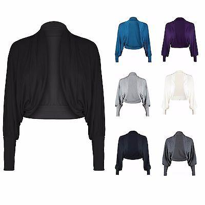 Donna Batwing Plus Size Baggy Top Maglione in jersey a maniche lunghe tinta unita 8-26