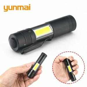 CREE-XP-E-Q5-LED-Torch-1000-LM-Min-waterproof-Household-14500-or-AA-Battery-NZ