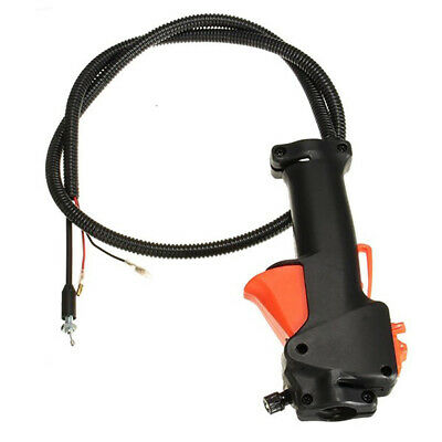 Aluminum Motor sense Trimmer Control Tube Griff Schalter Gashebel Kabel NEU