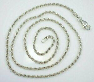 Gedrehte-925-Sterling-Silber-Kette-Collier-Zopfkette-Kordelkette-Polen-Glieder