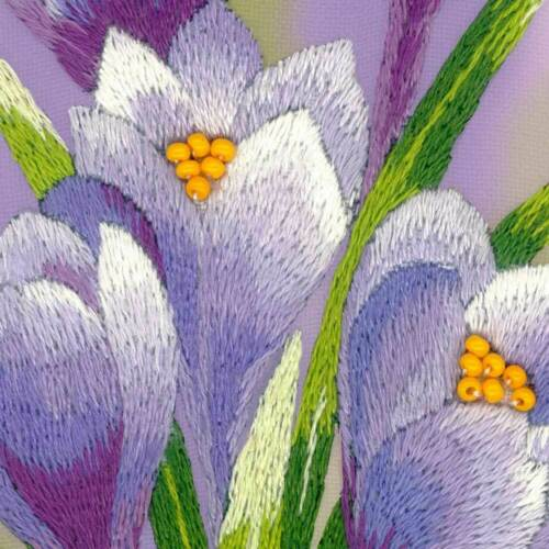hágalo usted mismo Riolis Kit Punto De Satén Florecitas puntada de Satén. Estampados