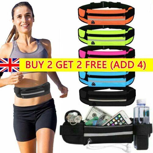 Running Belt Unisex Sport Jogging Phone Key Mobile Money Bum Bag Waist Travel UK