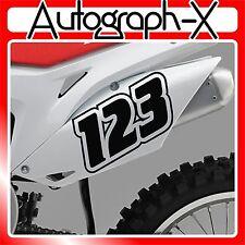3x ACU CUSTOM RACE NUMBERS Stickers Decals Bike Motocross Trials MX Dirt bike 10
