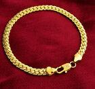 18k Yellow Gold Bracelets Bangle Women's Men's Curb Link Chain Giftpkg D636