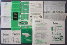 Vintage Lot of 9 Gateway Builders Home Brochures & Price List/Correspond Letter