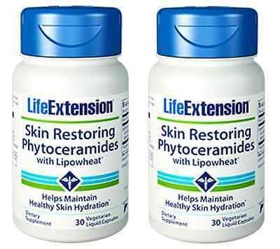 2 Pack Skin Restoring Phytoceramides with Lipowheat - 2 x 30 VC - Life Extension