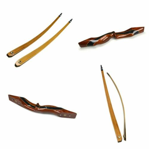 """62/"""" Longbow 25-55lbs Takedown Traditional Bow Wooden Riser Recurve RH Hunting"""