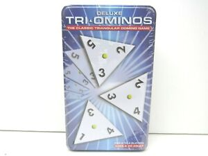 Deluxe-Tri-Ominos-Game-2003-Triominos-Triangular-Domino-Tiles-Pressman-Tin-NEW