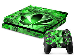 Video Games & Consoles Shop For Cheap Sony Ps4 Playstation 4 Skin Design Aufkleber Schutzfolie Set Cannabis Motiv Faceplates, Decals & Stickers