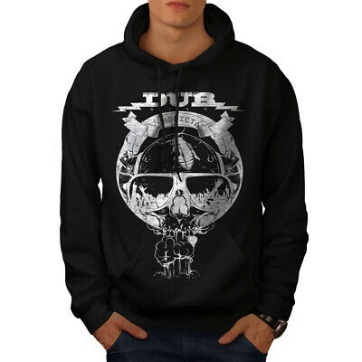 Clever Wellcoda Dub Addicted Dead Mens Hoodie, Electronic Casual Hooded Sweatshirt