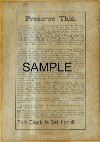 1880/'s 2 EXACT COPYS ITHACA DOUBLE DIAL CALENDAR LABELS CA