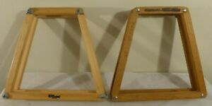 Set-of-2-Vintage-Wood-Frame-Protector-Tennis-Racket-Press-Wilson