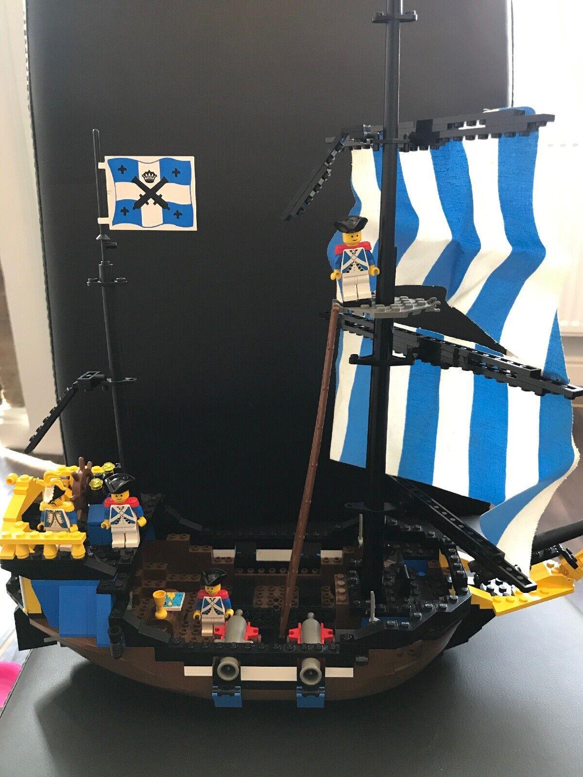 VINTAGE LEGO 6274 Vintage Bateau Pirate Caribbean Clipper bateau navire années 1980