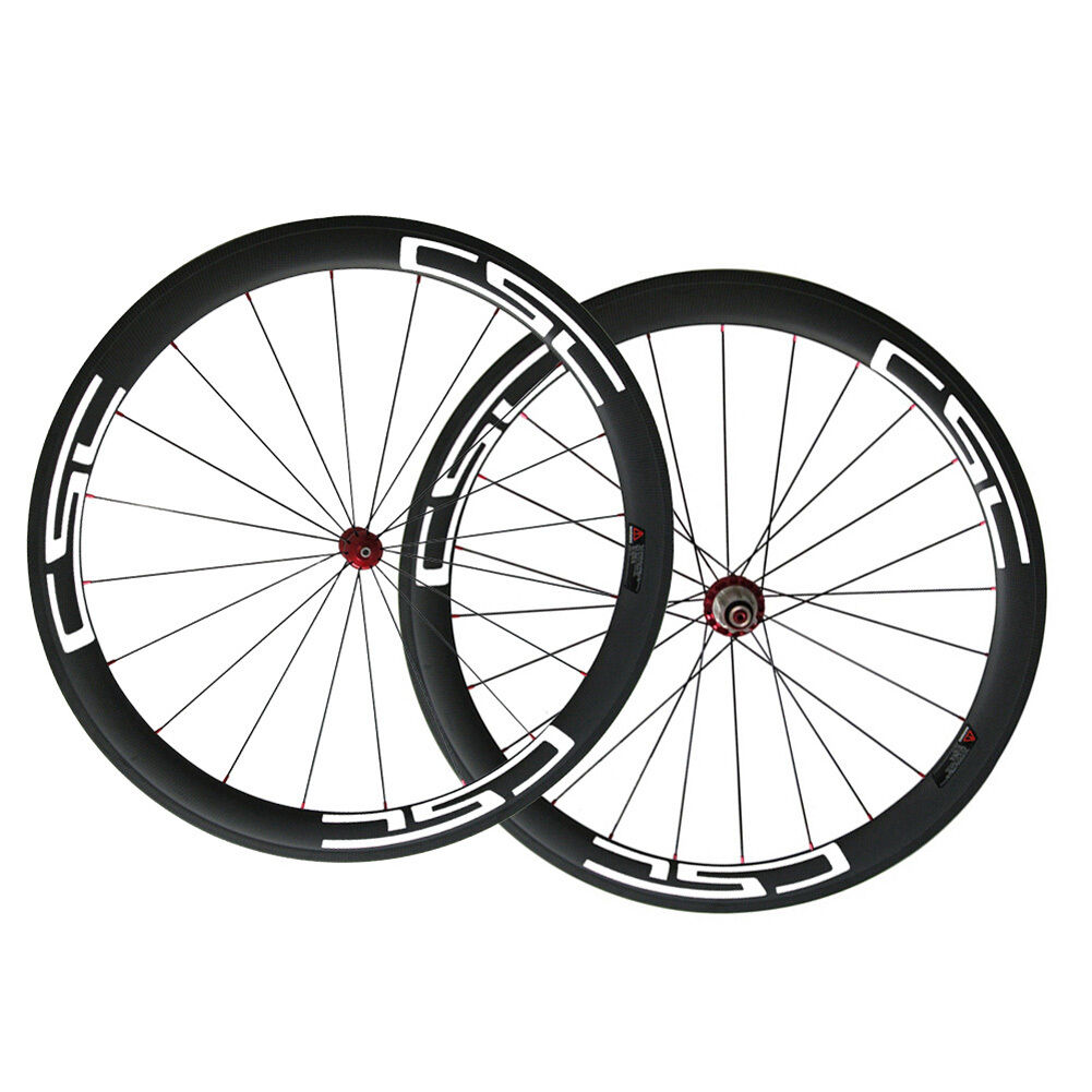CSC Straight pull Carbon hub R36 Ceramic bearing 50mm  Clincher Carbon wheelset  free delivery and returns