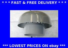Carenado Techo, 110mm de diámetro, plástico conductos, ventilación, tapa de chimenea, campana de Lluvia Sombrero,