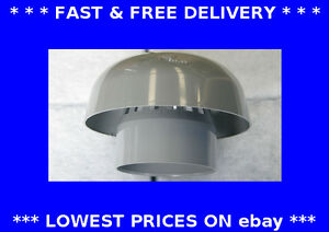 Manrose Grey Roof Mushroom Cowl 110mm Plastic Chimney Rain Cap Soil Pipe 1430 Ebay