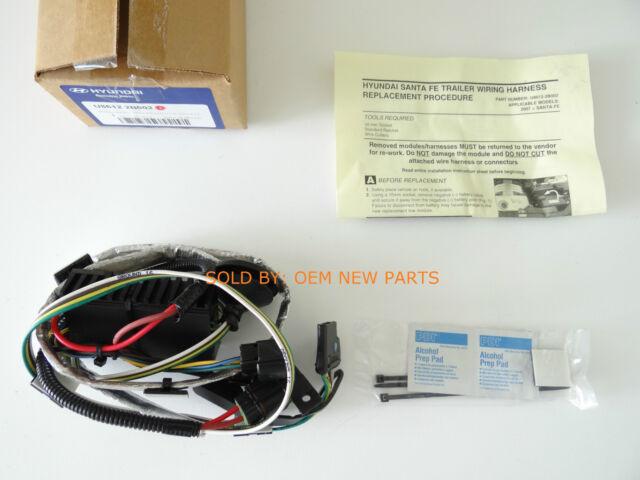 2010-2012 hyundai santa fe genuine oem tow hitch plug & play harness u8612-
