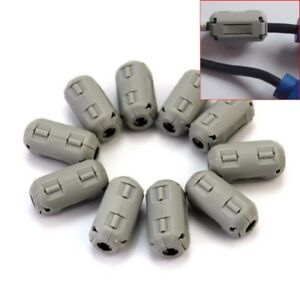 Ring-Core-Ferrite-Bead-10p-Clamp-Choke-Coil-RFI-EMI-Noise-Filter-Clip-Snap-Cable