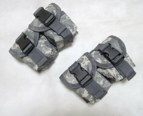 2 x Molle PALS Tactical Gear Double Fragmention G Pouch With Buckle--Airsoft