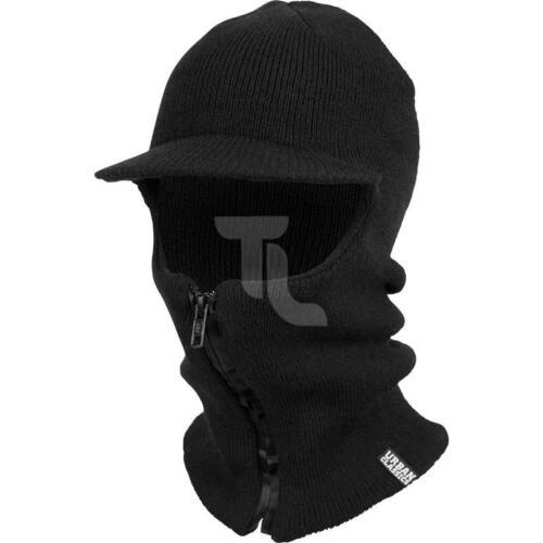 Urban Classics zipped balaclava visor tb1685 gorra Black nuevo