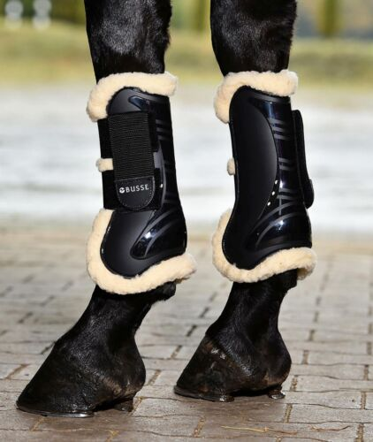 Busse 'Bounce' Ventilated, Fur Lined Front Tendon Open Fronted Jumping Boots