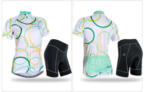 Women/'s Sports Cycling Jersey /& Shorts Set MTB Bike Bicycle Clothing Suit S-XL