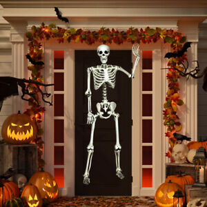 Costway-5-4ft-Halloween-Skeleton-Life-Size-Realistic-Full-Body-w-Movable-Joints