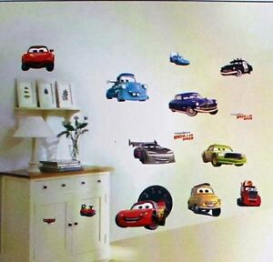 Cars Mcqueen Wall Sticker Decal Enfants/enfants Garçons Chambre Murale-afficher Le Titre D'origine