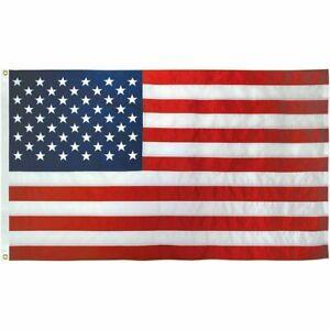 USA-American-Flag-3x5-Ft-Embroidered-Stars-Sewn-Stripes-Brass-Grommets-USA-Nylon