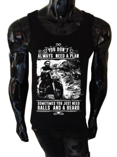 Sometimes You Just Need Balls and a Beard Tank top Mens Funny Biker BB4