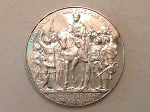 Germany 1913 Prussia Three 3 Marks 100 Years Defeat of
