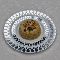 40 Droplet Design Dinner/wedding Disposable Plastic Plates Silver/gold-free Ship