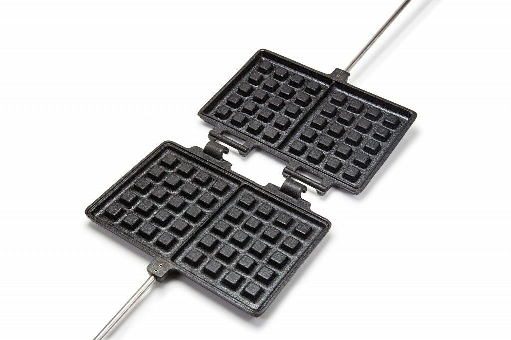 Petromax Waffle iron Waffle Dessert cast iron Wooden  handle  take up to 70% off