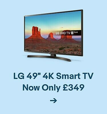 """LG 49"""" 4K Smart TV Now Only £349"""