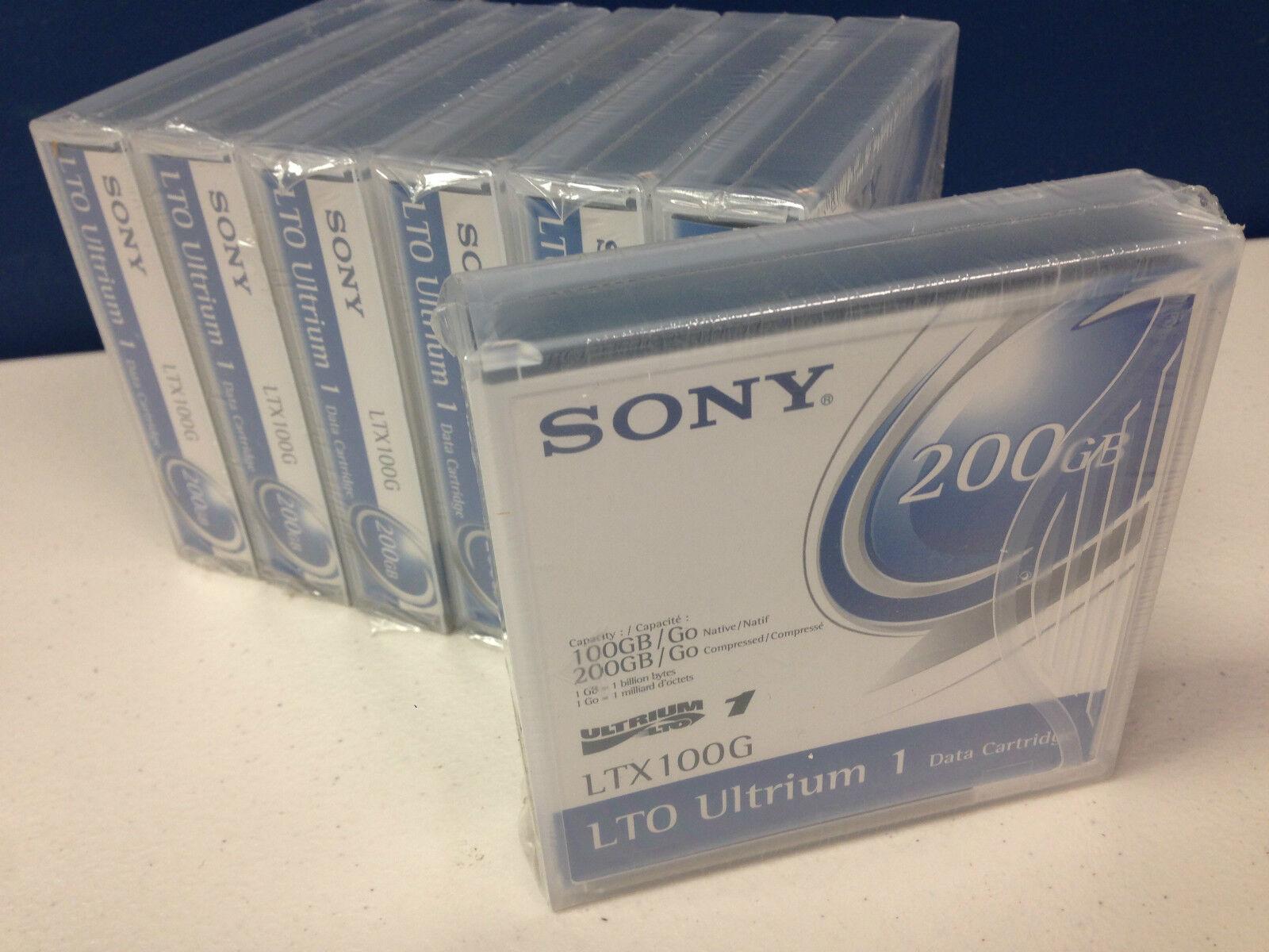 Sony LTO1 100G//200G Compressed LTX100G 5 Pack