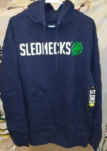 Genuine Slednecks New Men's M /'New Stencil/' Navy  Pullover Hoodie Zipper Hoody