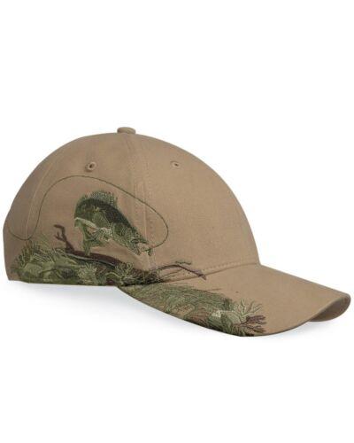 DRI DUCK Wildlife Series Walleye Fish Cap 3269 Baseball Hat Khaki Brown