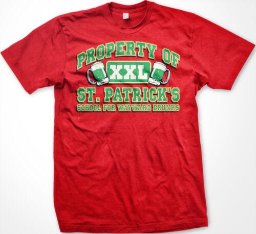 Property of St Patricks School for Wayward Drunks Funny Irish Humor Mens T-shirt