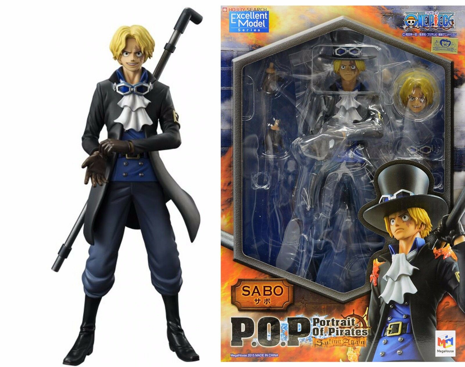FIGURE ONE PIECE SABO SAILING AGAIN POP P.O.P. DX EXCELLENT MODEL ANIME MANGA  1