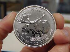 2012 Canada $5 .9999 Pure 1 Ounce Silver Wildlife Series Moose Coin
