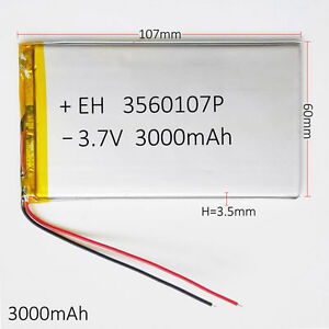 3-7V-3000mAh-Li-Po-Polymer-Battery-Rechargeable-For-Tablet-9-034-PDA-DVD-power-bank