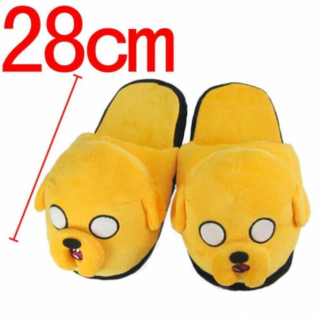 273847218a6542 Adventure Time With Finn   Jake Soft Plush Slippers Home Warm Shoes ...